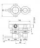 Rubio Inox inbouw mengkraan voor douche of bad met 2-weg omsteller PVD kleur Gun Metal 1208920699