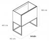 TopLine Metal badmeubelset met stalen onderstel - 1 lade mat wit - 70x45x90cm - enkele wastafel mat wit