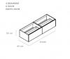 TopLine Metal badmeubelset met stalen onderstel - 3 lades mat wit - 180x45x90cm - enkele wastafel mat wit (kloon)