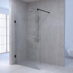 Aquadesign Minimal Inloopdouche profielloos 60x200 cm helder glas - antraciet beslag