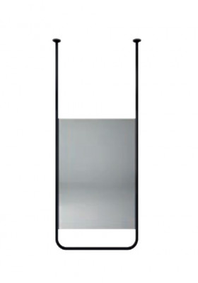 Aquadesign Alpha Spiegel plafondmontage 60x150x2cm zwart