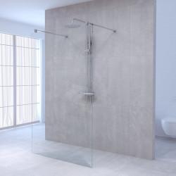 Aquadesign Minimal Doorloopdouche profielloos 100x200 cm helder glas - chroom beslag