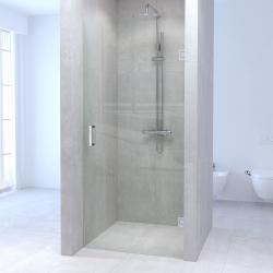 Aquadesign Minimal douchedeur 60x200cm profielloos - chroom beslag