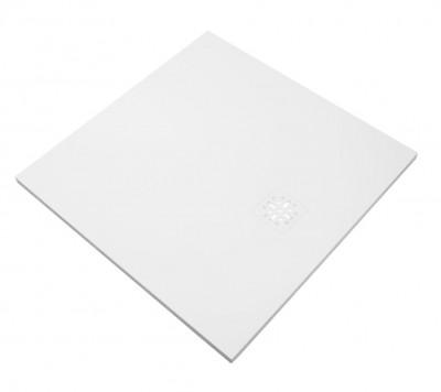 Aquadesign douchevloer finestone 90x90cm mat wit