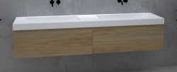 TopLine Amsterdam massief eiken badmeubel 120x50x35cm kleur natural met greeploze en softclose laden 1208946943