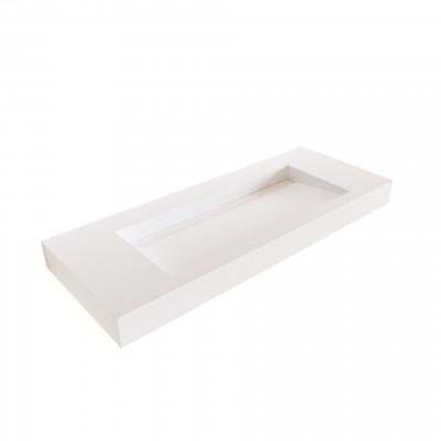 Solid-S Avon solid surface vrijhangende wastafel 60x46x10cm mat wit 1208946944