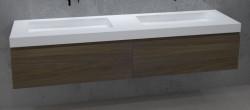 TopLine Amsterdam massief eiken badmeubel 200x50x35cm kleur Havanna 1208946990