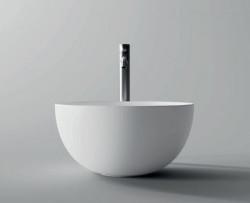Flavio Murano opbouw waskom keramiek glans wit B40xH20cm 1208947544