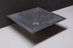 Forzalaqua Milano opbouw opzetkom vierkant hardsteen gezoet 45 x 45 x 12 cm zonder overloop 100013