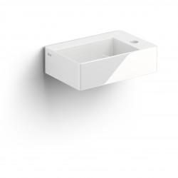 Clou New Flush 2 fontein incl. plug met kraangat wit keramiek