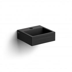 Clou Flush 1 fontein 28cm met kraangat mat zwart keramiek