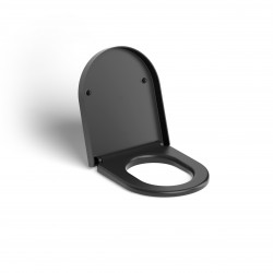 Clou Hammock toiletzitting met deksel soft-closing mat zwart