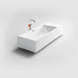 Clou Wash Me vrijstaand ligbad met stop/go plug wit acryl compositie