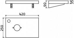 Clou First plateau t.b.v. fonteinkom met kraangat gezoet basalt technische tekening