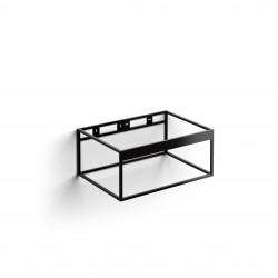 Clou FrameHammock rvs kokerprofielkast 70 cm mat zwart poederc.