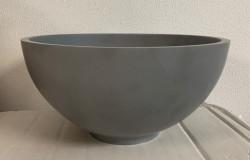 Solid S kleine waskom fontein Solid Surface rond 23 x 23 x 11,5 cm grijs 1208952971