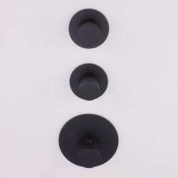Rubio Nero High Flow Inbouw thermostaatkraan met 2 stopkranen mat zwart 1208952984