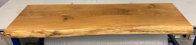 OUTLET Boomstam wastafelblad massief eiken KLEUR PURE 130cm ZONDER beugels 1208953059