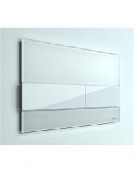 TECEsquare II WC-bedieningsplaat glas wit toets wit 1208953234