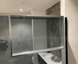 Design Bath douchenis doucherek en handdoekhaak rvs-look voor over douchewand 12089532937