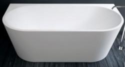 Design Bath half vrijstaand bad back to wall acryl 170x80cm mat wit 1208953341