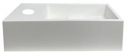 Solid-S Fontein solid surface mat wit B36xD18xH10 cm met cover model links met kraangat 1208954167