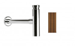 Waterevolution Flow design sifon Messing Natuur M199SIF1LE (kloon)