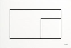 TECE Velvet Fenix WC-bedieningsplaat mat wit 1208954457