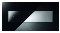 OUTLET Viega Visign For Style 12 bedieningsplaat Parsol 690632 Glas Zwart-Chroom 1208954501
